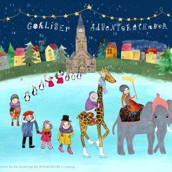 Weihnachtskalender mit 24 Türchen