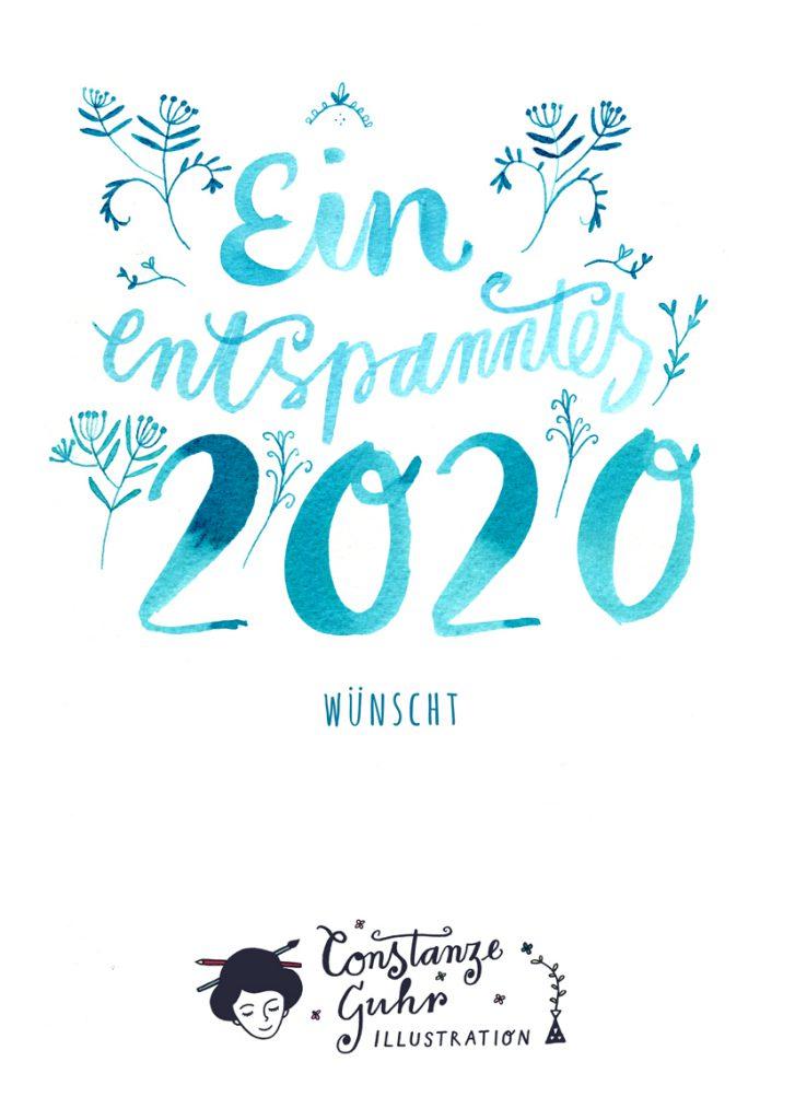 ein entspanntes 2020